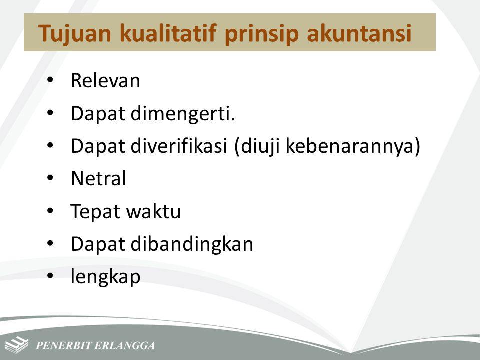 Tujuan kualitatif prinsip akuntansi