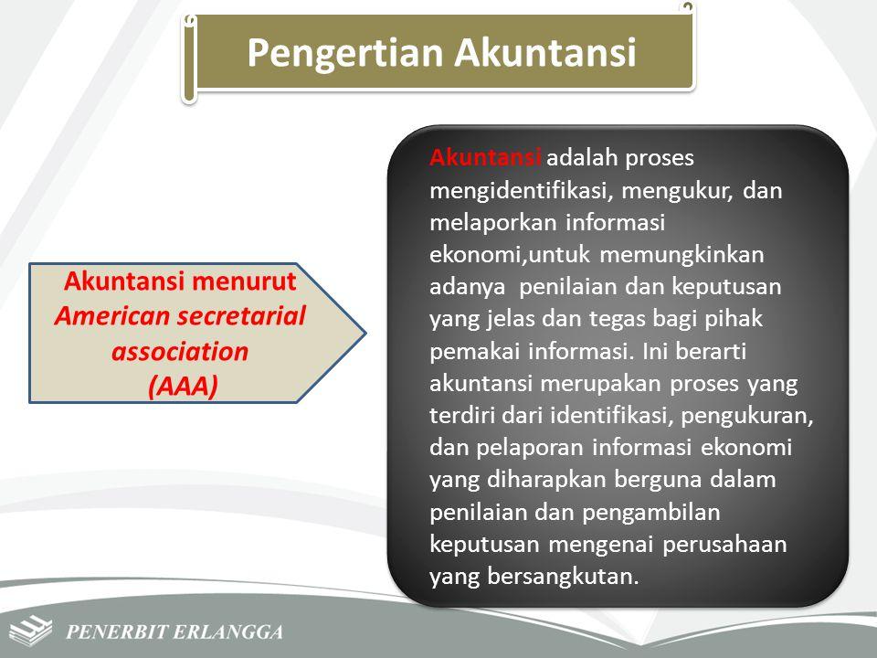 Pengertian Akuntansi Akuntansi menurut American secretarial