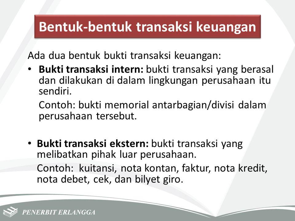 Bentuk-bentuk transaksi keuangan