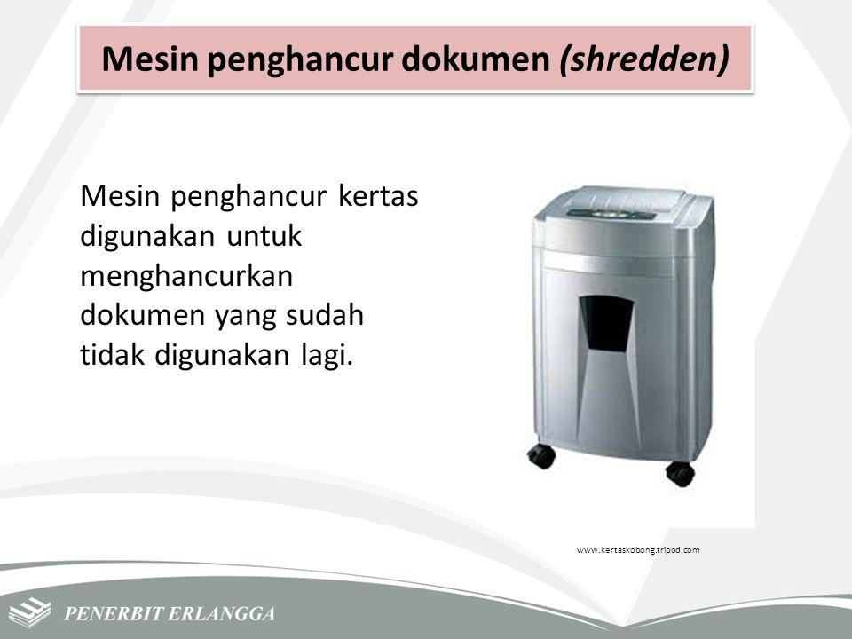 Mesin penghancur dokumen (shredden)