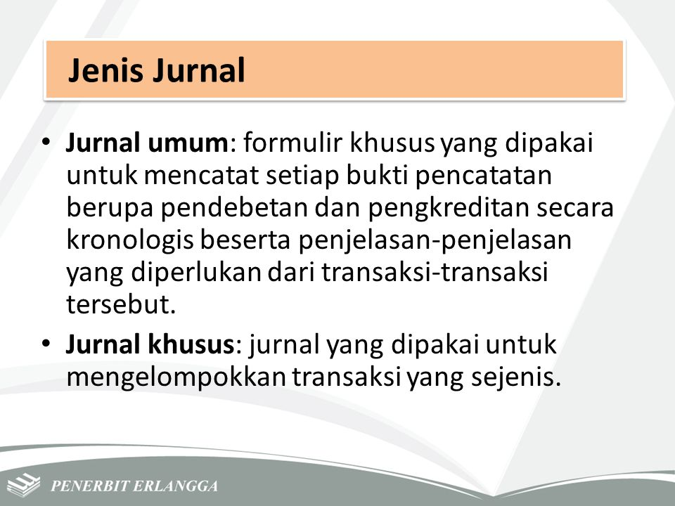 Jenis Jurnal