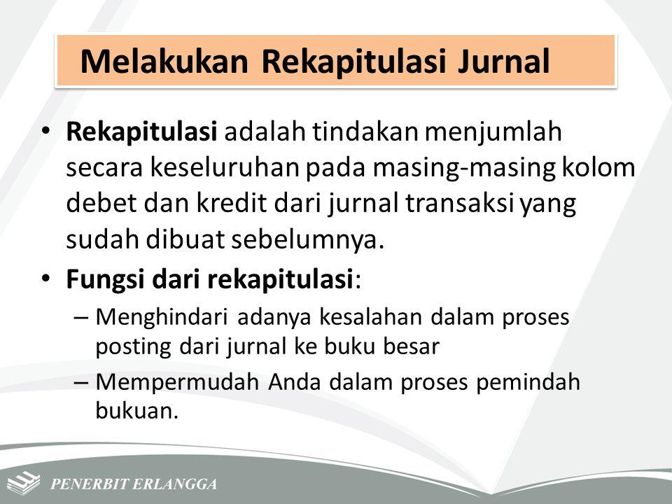 Melakukan Rekapitulasi Jurnal