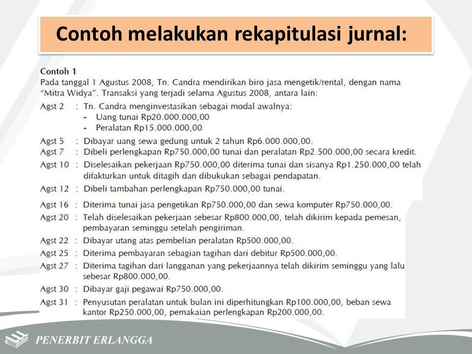Contoh melakukan rekapitulasi jurnal: