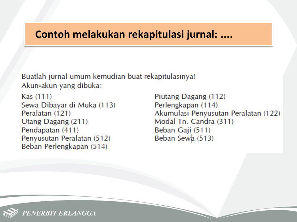 Contoh melakukan rekapitulasi jurnal: ....