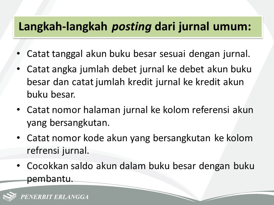 Langkah-langkah posting dari jurnal umum:
