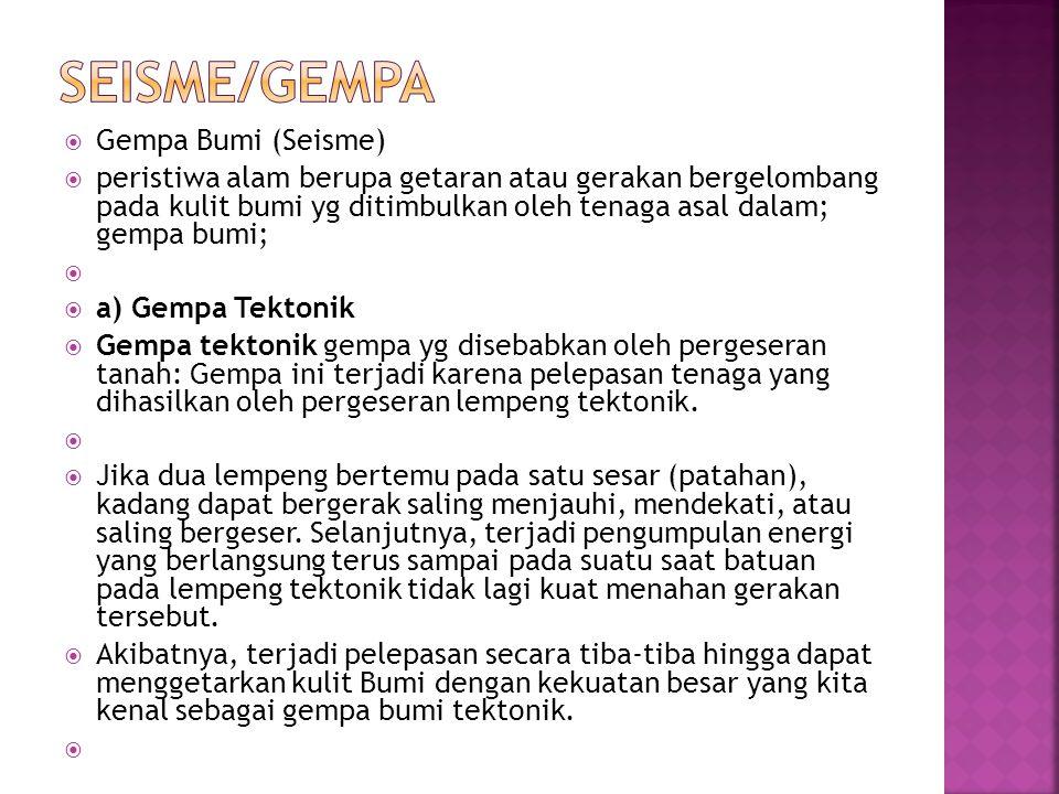 SEISME/GEMPA Gempa Bumi (Seisme)