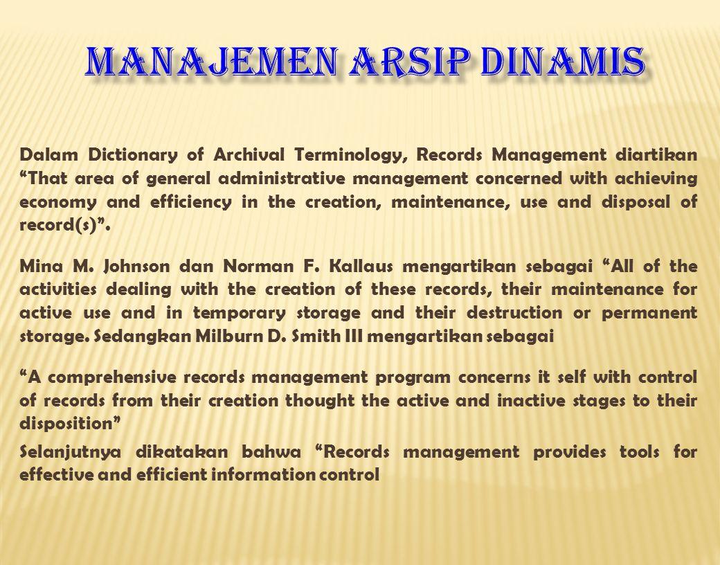 Manajemen arsip DINAMIS
