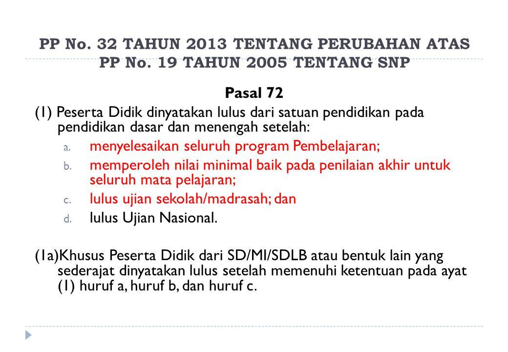 PP No. 32 TAHUN 2013 TENTANG PERUBAHAN ATAS PP No