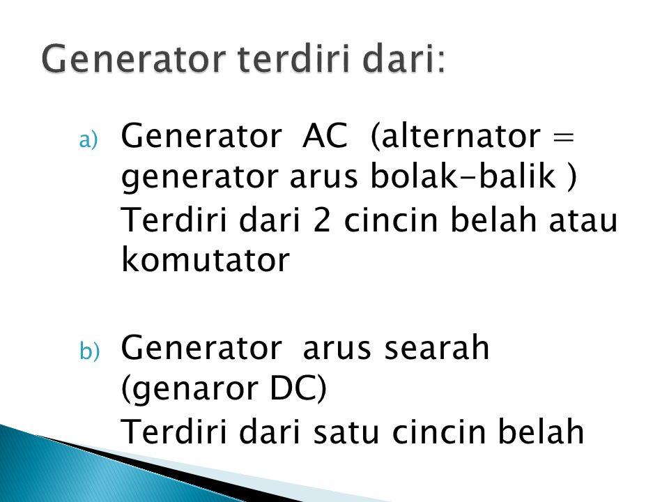 Generator terdiri dari:
