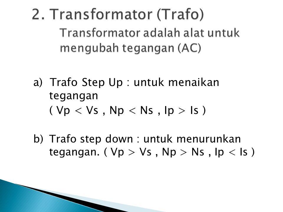 2. Transformator (Trafo). Transformator adalah alat untuk