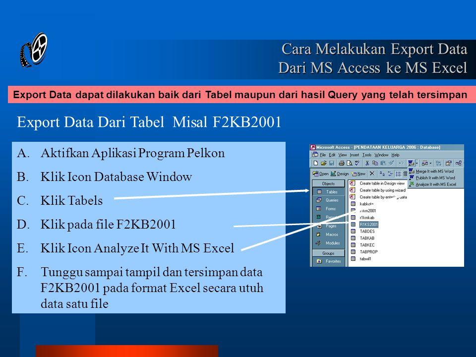 Cara Melakukan Export Data Dari MS Access ke MS Excel
