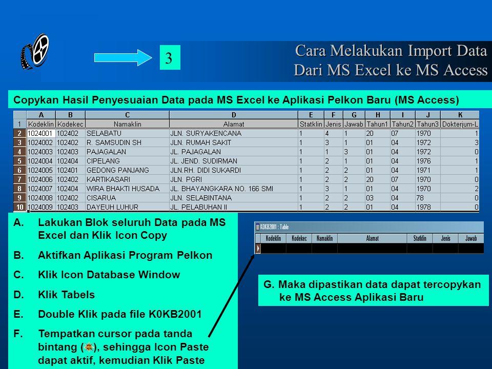 Cara Melakukan Import Data Dari MS Excel ke MS Access