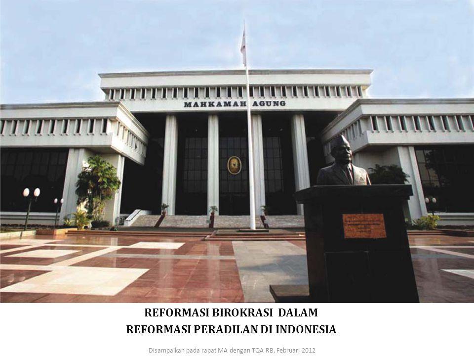 REFORMASI BIROKRASI DALAM REFORMASI PERADILAN DI INDONESIA
