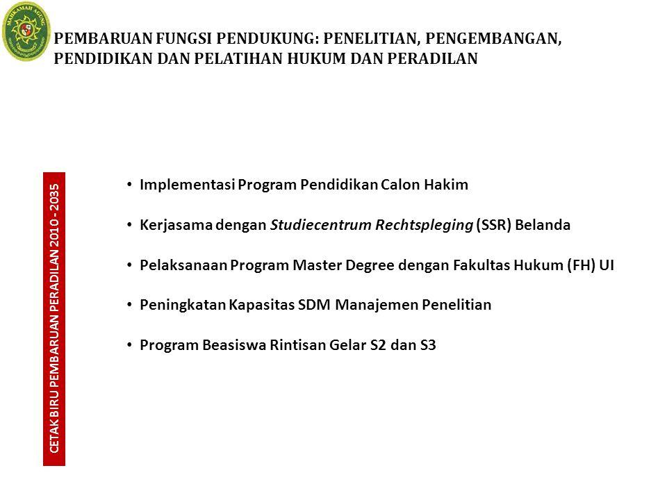 CETAK BIRU PEMBARUAN PERADILAN 2010 - 2035