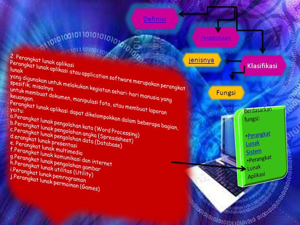 Definisi jenisnya Klasifikasi Fungsi Berdasarkan fungsi: