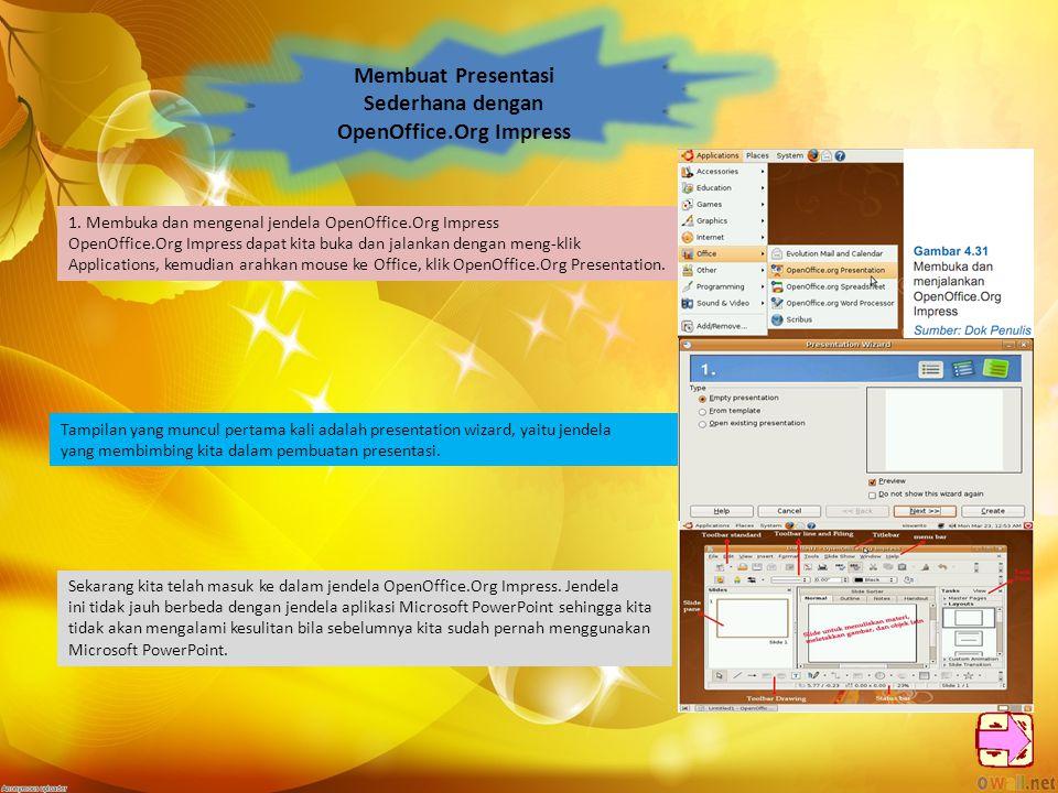 Membuat Presentasi Sederhana dengan OpenOffice.Org Impress