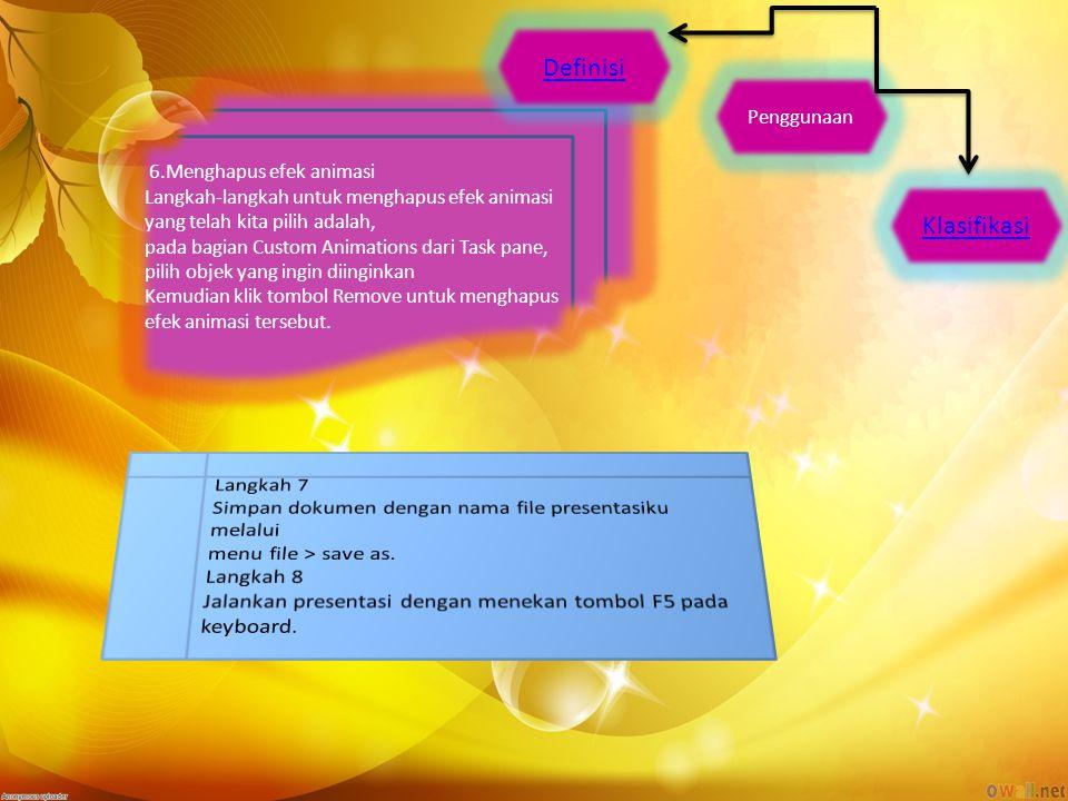 Definisi Klasifikasi Langkah 7
