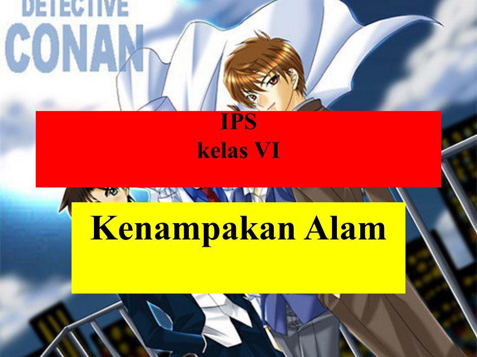 IPS kelas VI Kenampakan Alam