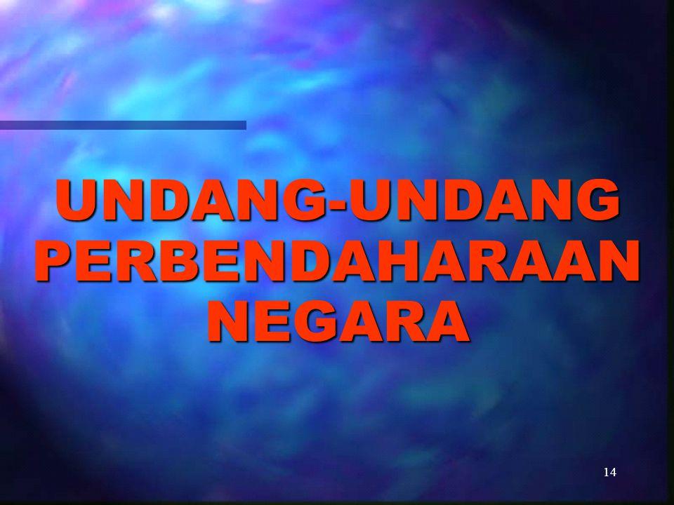 UNDANG-UNDANG PERBENDAHARAAN NEGARA