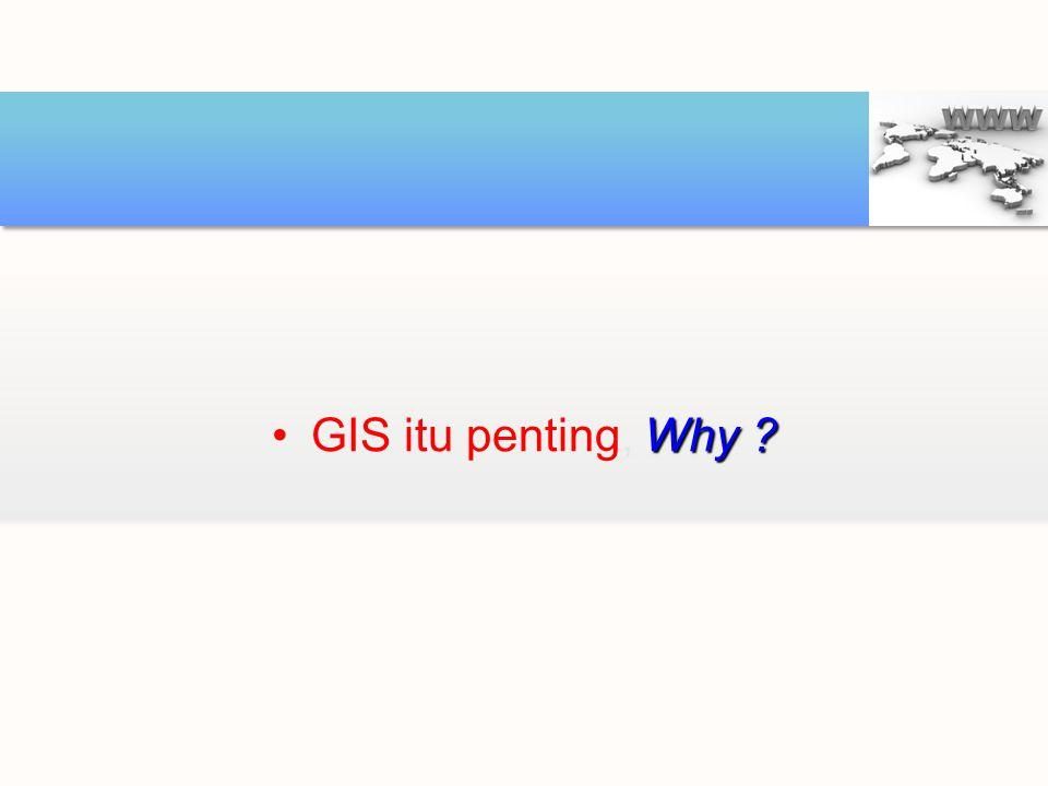 GIS itu penting, Why