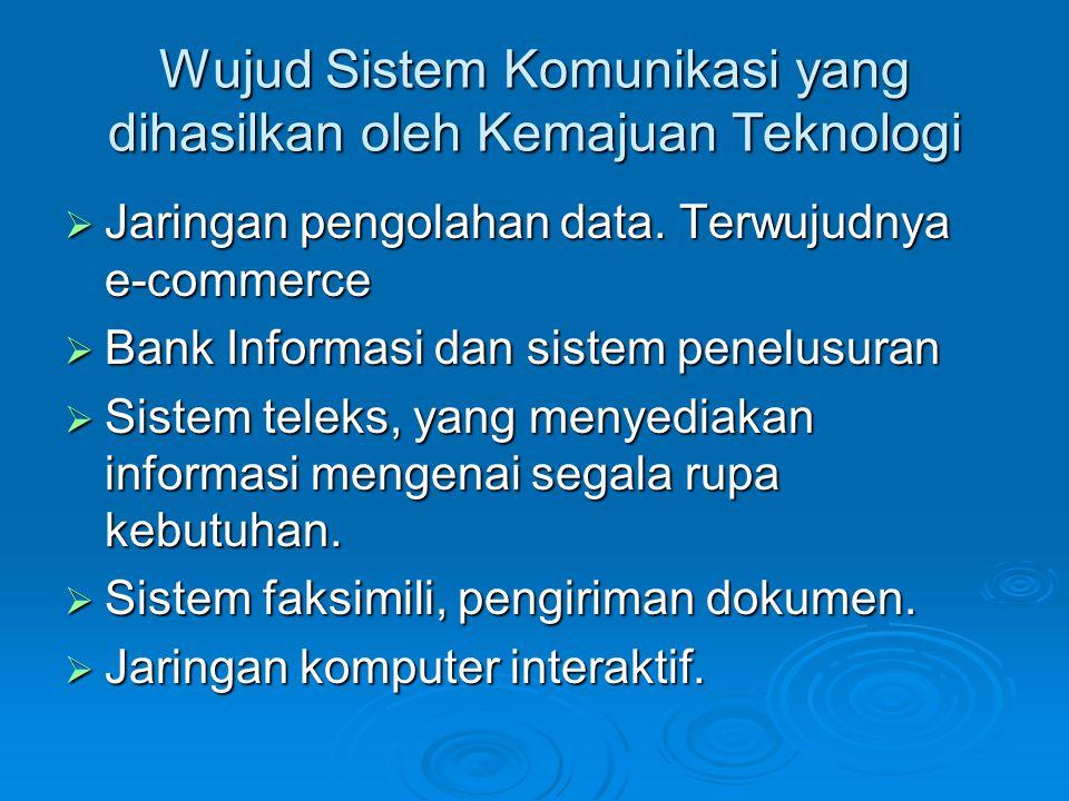 Wujud Sistem Komunikasi yang dihasilkan oleh Kemajuan Teknologi