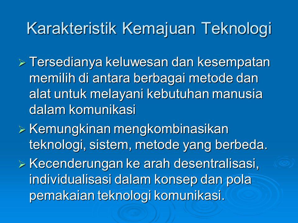 Karakteristik Kemajuan Teknologi