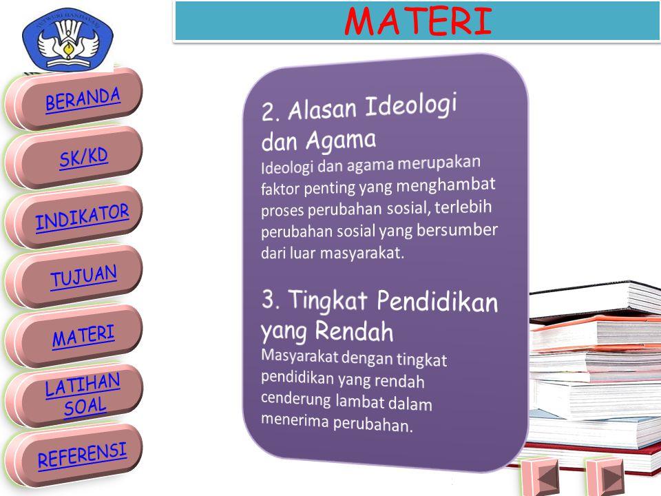 MATERI 2. Alasan Ideologi dan Agama 3. Tingkat Pendidikan yang Rendah