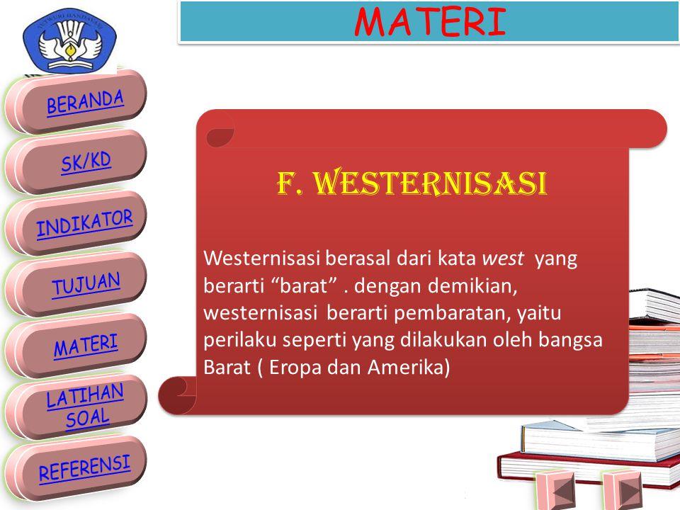 MATERI F. WESTERNISASI.