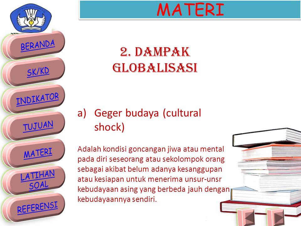 MATERI 2. Dampak Globalisasi Geger budaya (cultural shock)