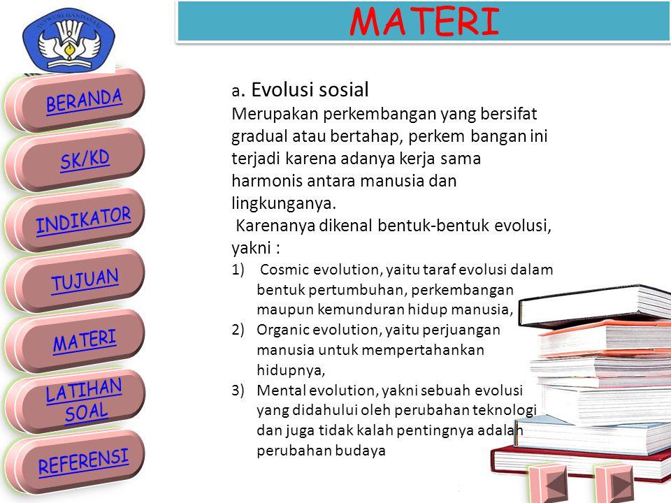 MATERI a. Evolusi sosial