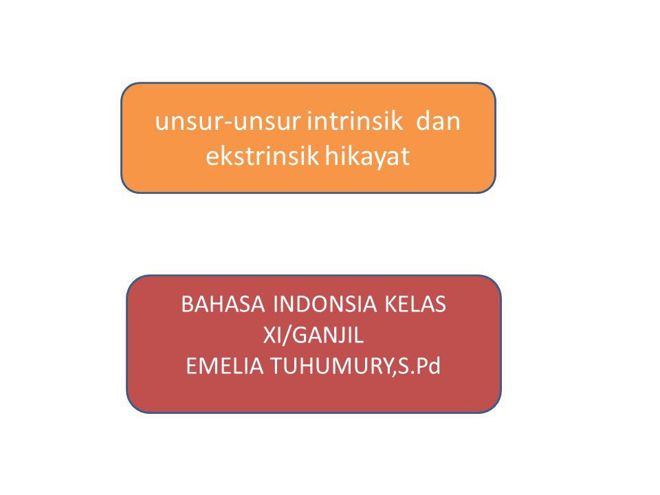 unsur-unsur intrinsik dan ekstrinsik hikayat