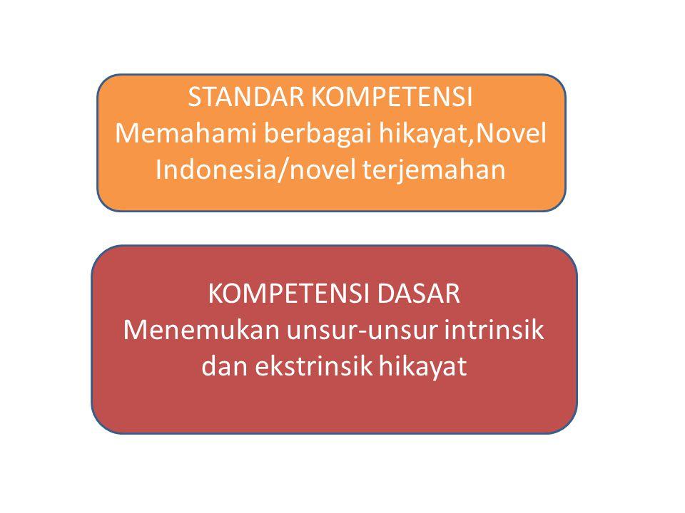 Memahami berbagai hikayat,Novel Indonesia/novel terjemahan