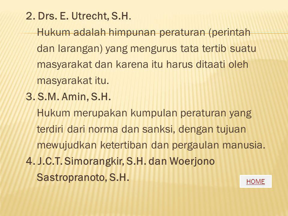 2. Drs. E. Utrecht, S.H.