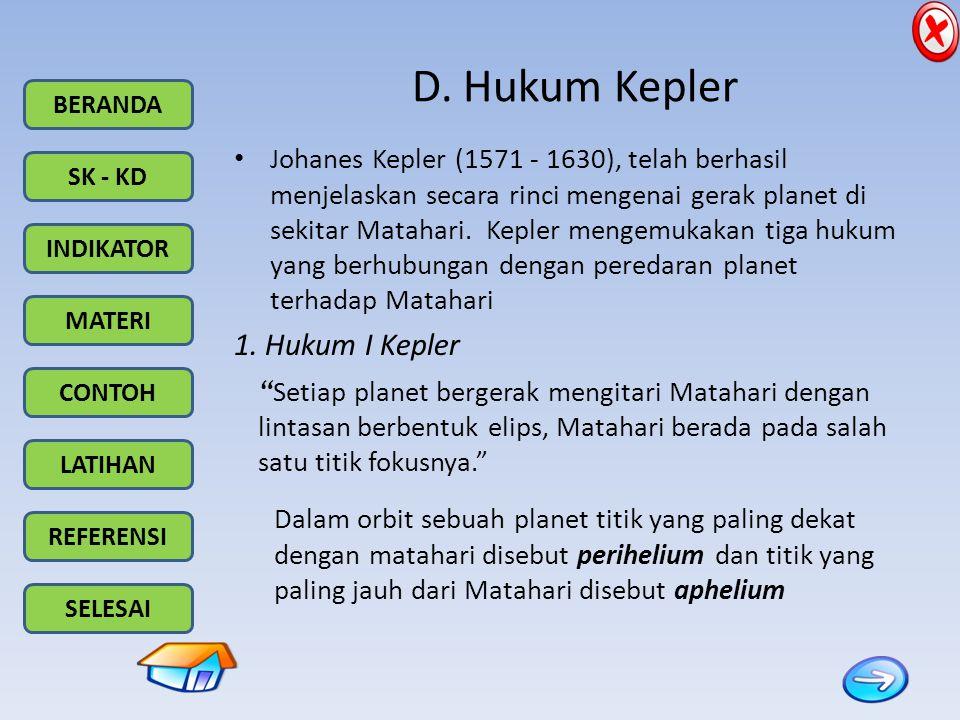 D. Hukum Kepler 1. Hukum I Kepler