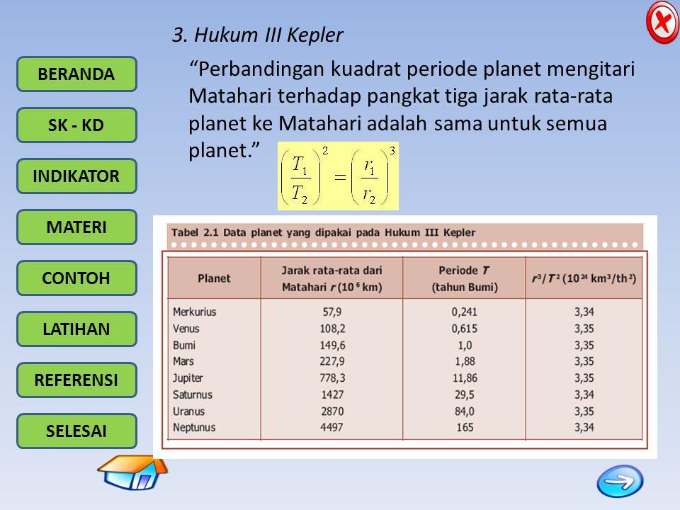 3. Hukum III Kepler