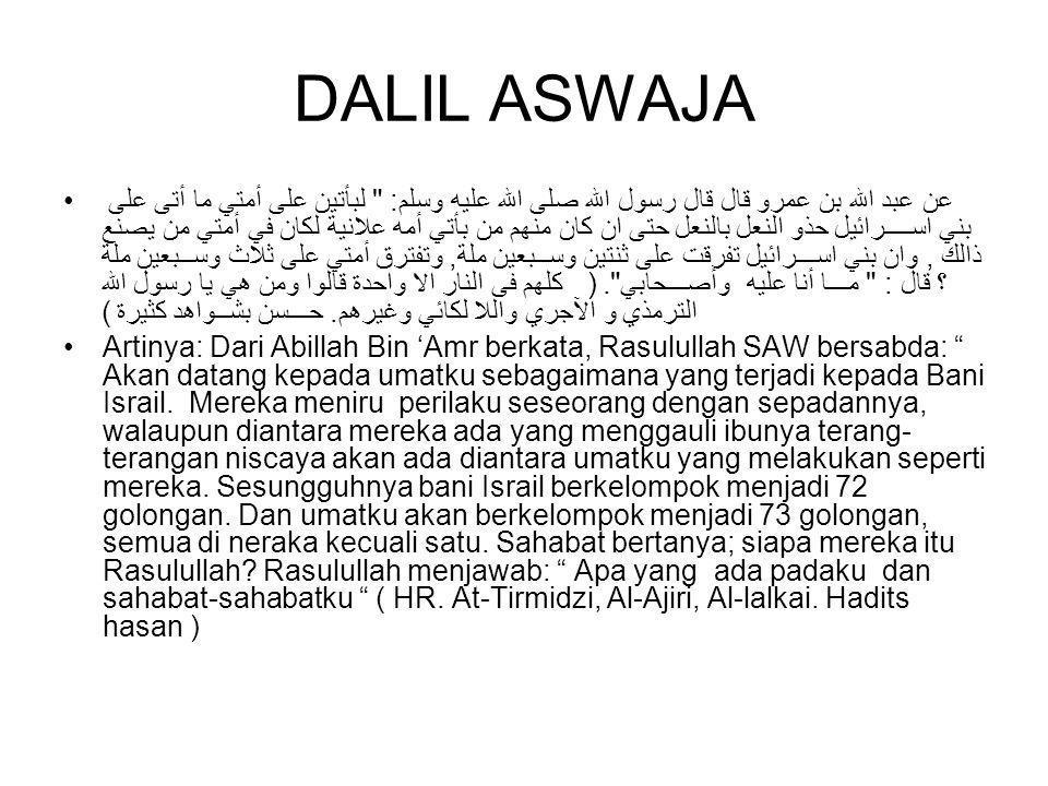 DALIL ASWAJA