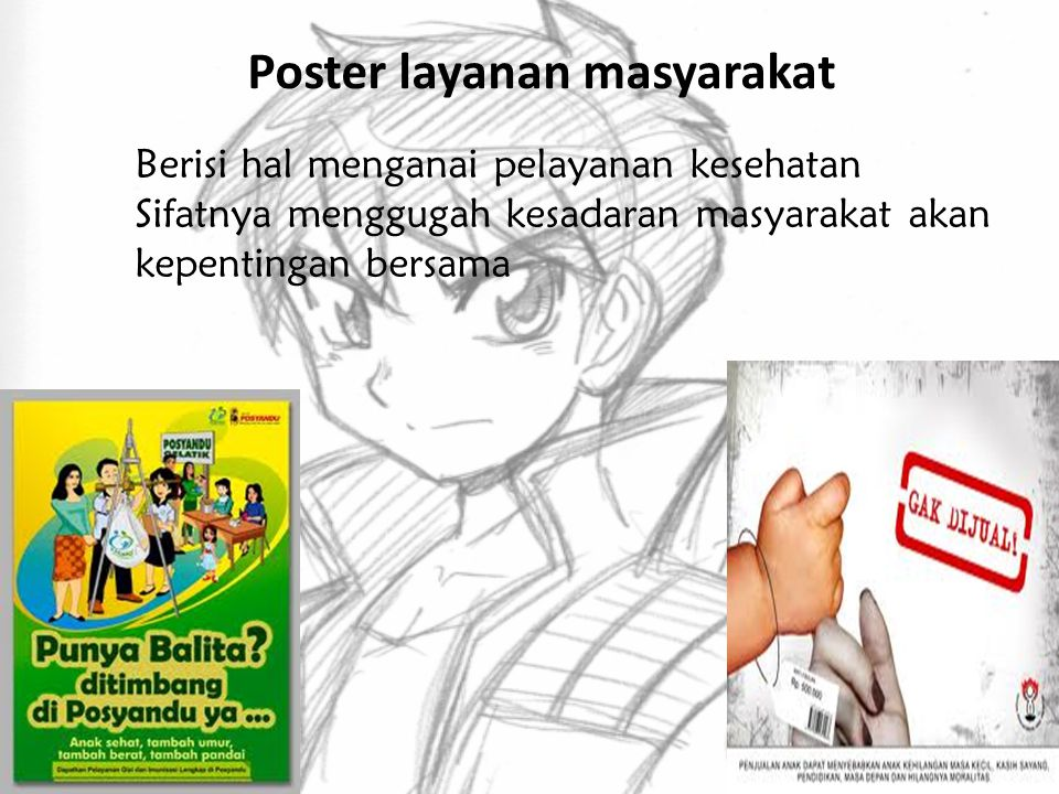Poster layanan masyarakat