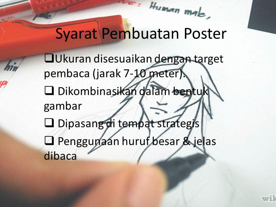 Syarat Pembuatan Poster