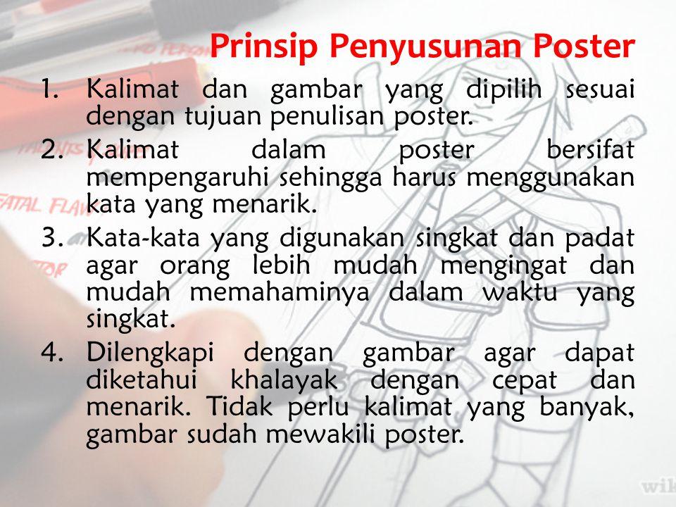 Prinsip Penyusunan Poster