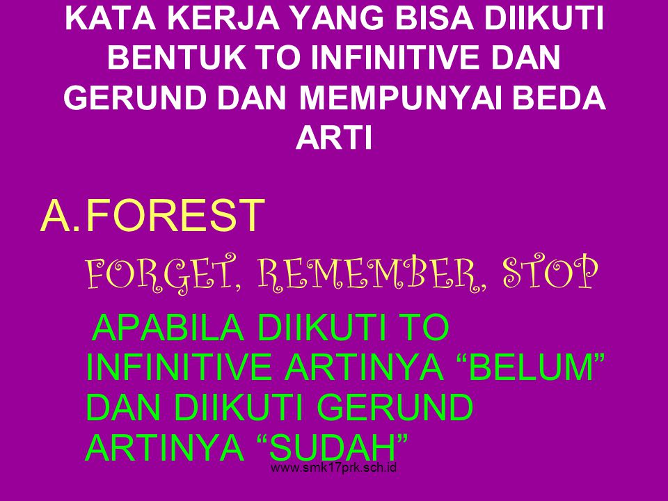 FOREST FORGET, REMEMBER, STOP
