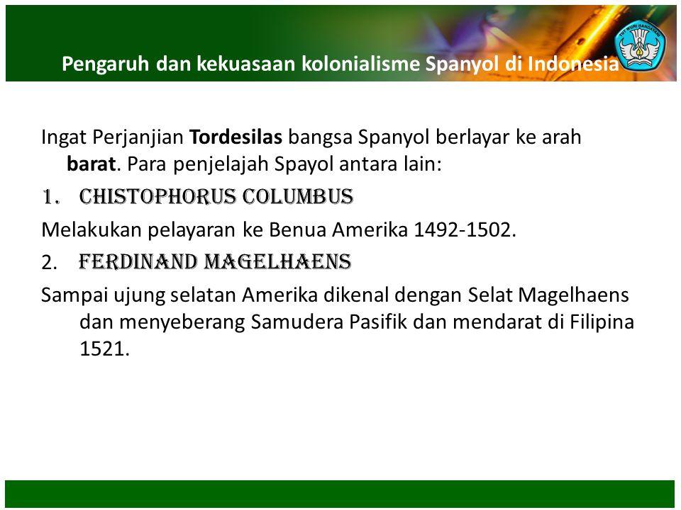 Pengaruh dan kekuasaan kolonialisme Spanyol di Indonesia