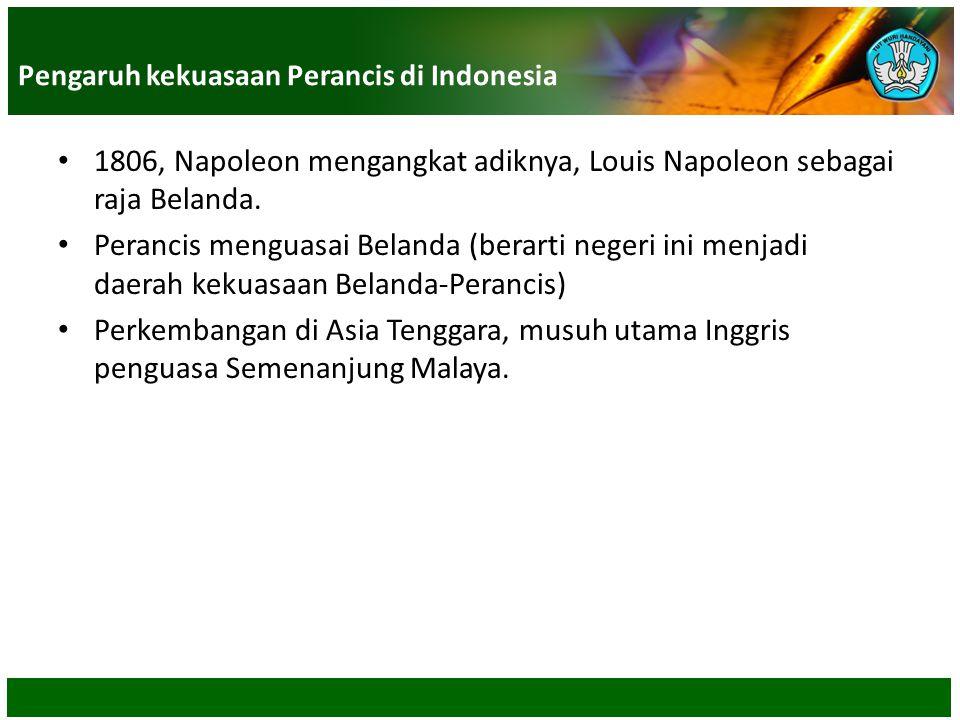 Pengaruh kekuasaan Perancis di Indonesia