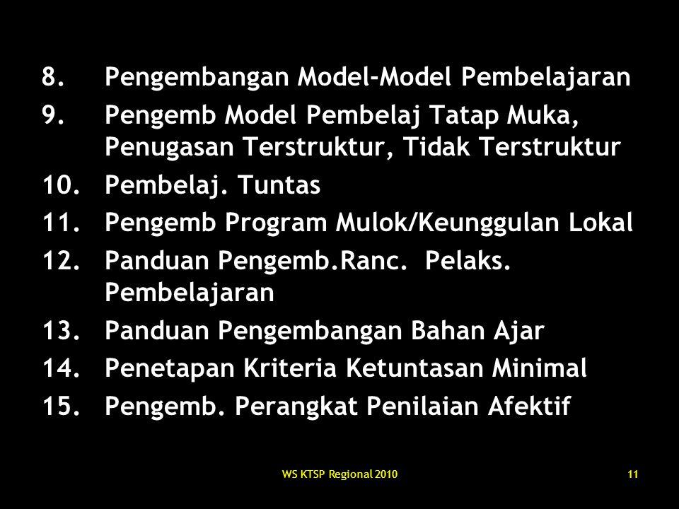 Pengembangan Model-Model Pembelajaran