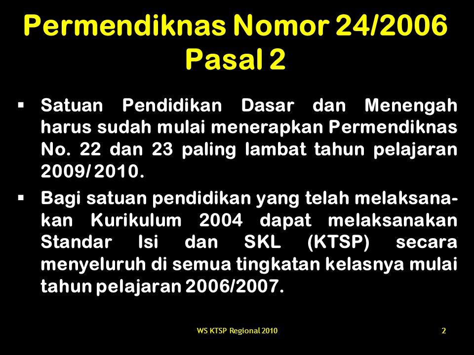 Permendiknas Nomor 24/2006 Pasal 2