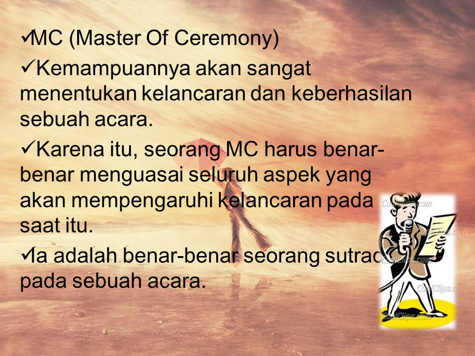 MC (Master Of Ceremony)
