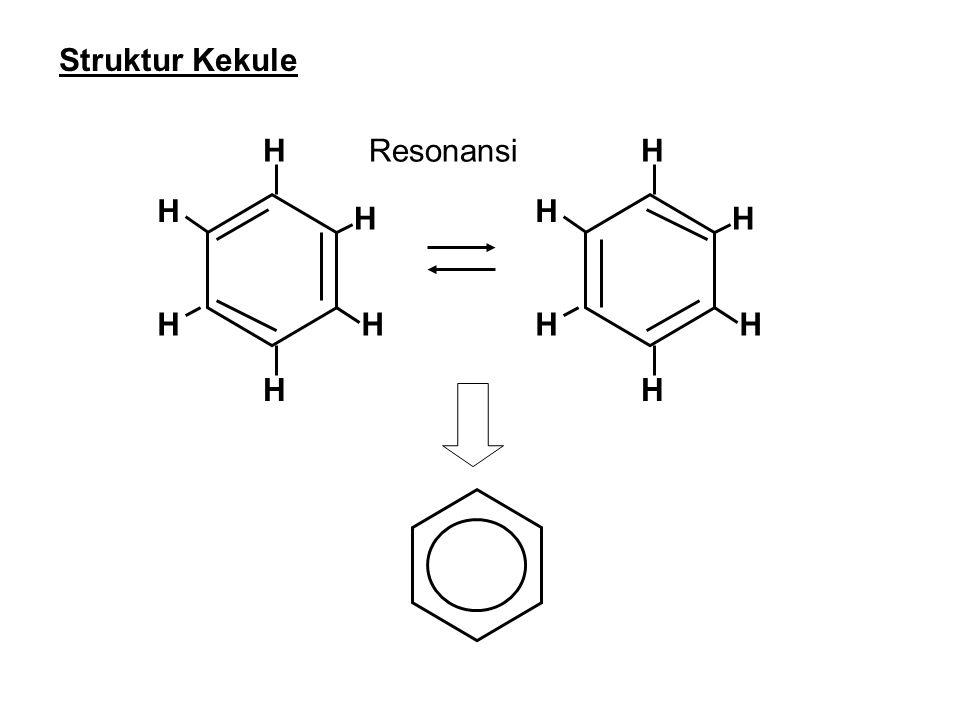 Struktur Kekule H Resonansi H H H H H H H H H H H
