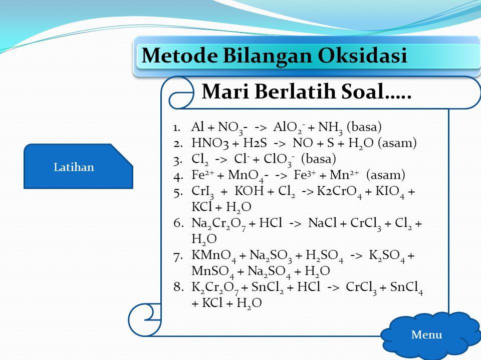 Metode Bilangan Oksidasi