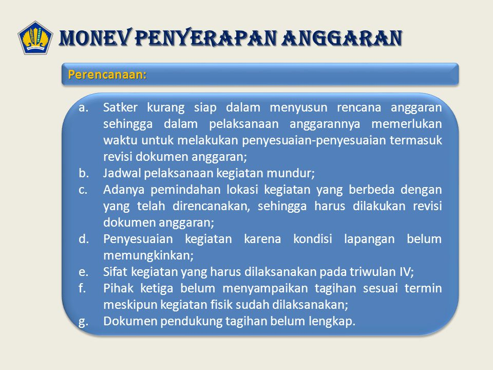 Monev penyerapan anggaran
