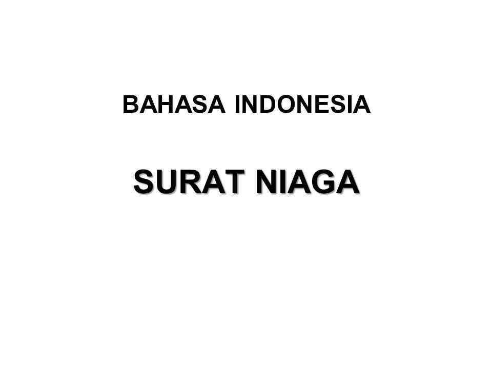 BAHASA INDONESIA SURAT NIAGA