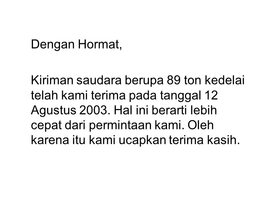 Dengan Hormat,